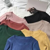 sweater women pullover slim o neck warm sweaters knitted korean jumper fashion women clothes pull femme poleras sueter 2020