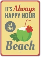new vintage metal tin sign always happy hour beach drink outdoor street garage home bar hotel wall decor metal plaque signs