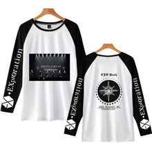 NEW KPOP EXO PLANET#5 T Shirt Harajuku Printing Long Sleeve Women EXO PLANET#5 T Shirt High Quality New Casual O-Neck Tee Shirts