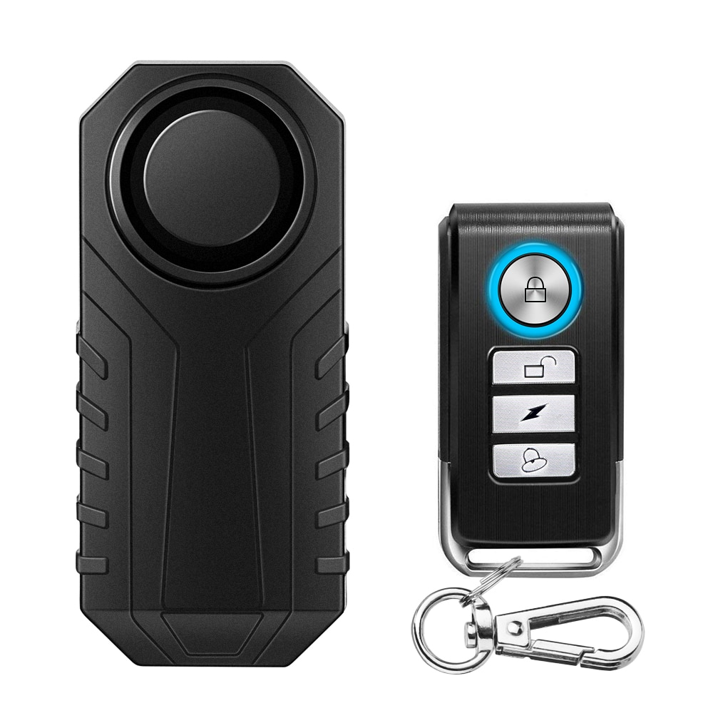 Anchtek Waterproof Motorcycle Bike Anti-Theft Alarm Wireless Remote Control Bicycle Security Alarm 1
