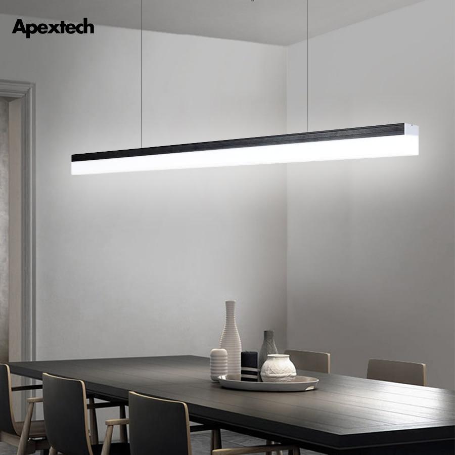 Linear Bar LED Tube Chandelier Office Front Desk Ceiling Hanging lamp Dining Room Studio Warehouse Markets LED Lighting Fixtures