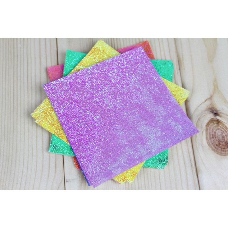 50 unid/set de papel de Origami cuadrado brillo de un solo lado doblado Color sólido papel recortes artesanía decoración DIY Accesorios