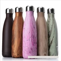 5001000ml double wall insulated vacuum flask stainless steel water bottle cola water beer thermos for sport bottle