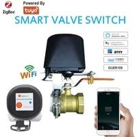 Controleur de Valve intelligent Wifi Tuya SmartLife  pour canalisation deau et de gaz  arret automatique  fonctionne avec Alexa Google Assistant  maison intelligente