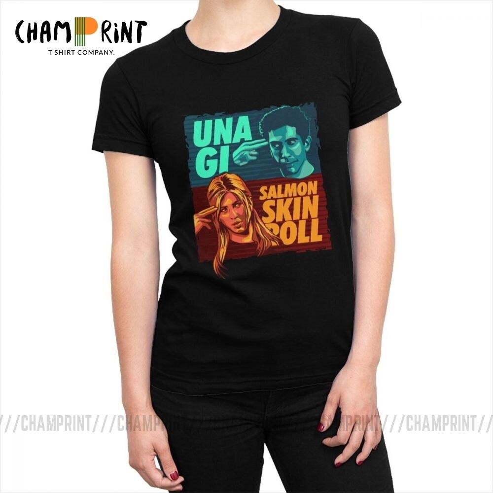 Unagi Salmon Skin Roll Friends TV camisetas para mujer moda camiseta 2019 algodón remeras camisetas ropa de talla grande para mujer