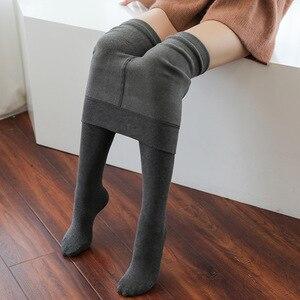 200g Fashion Winter Warm Pantyhose Cotton Velvet Women Tights Thicken Sexy Women's Stockings Superelastic Pantyhoses for Female