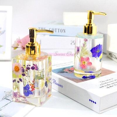 DIY epoxi de cristal botella de Perfume botella de molde de desinfectante de manos botella molde botella de almacenamiento botella de Sub-embotellado molde de silicona