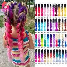 Dream Like-extensiones de cabello sintético trenzado Jumbo, extensiones de cabello con brillos de color, de fibra de alta temperatura, 24 pulgadas, 81