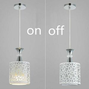 Подвесной светильник без источника лампы, с одной головкой, с цветами, в форме лепестка