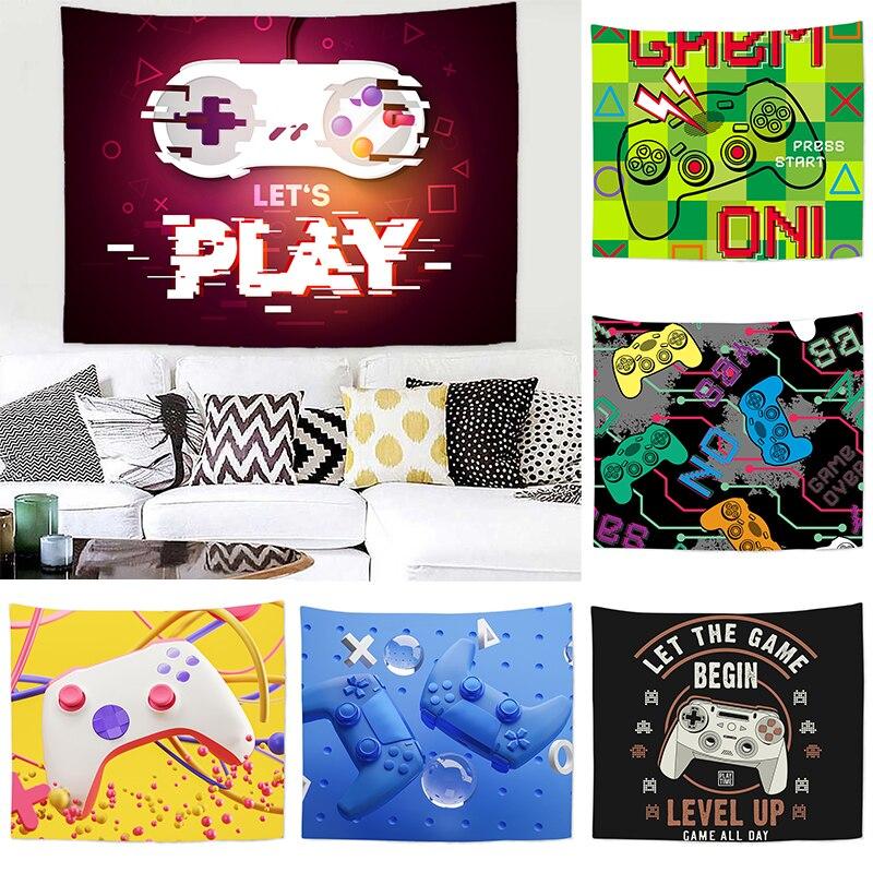 3D геймпад, гобелен, настенные гобелены для детей, игрок, видеоигры, гобелены для мальчиков и девочек, настенное искусство для спальни, гостин...