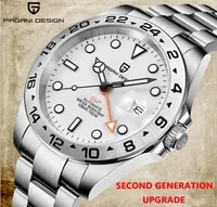 pagani design 2021 new mens 42mm automatic gmt clock 316l stainless steel 100m waterproof sapphire mens watch reloj hombre
