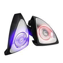 Intérieur de voiture 64 couleurs Led lumière ambiante 3D rotatif Tweeter haut-parleur Burmester pour mercedes-benz W213 E Calss E200L E300L(W213)(3D