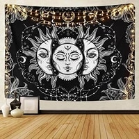 tapestry wall hanging thin sun god skeleton mysterious theme printed wall cloth gothic home bedroom decor