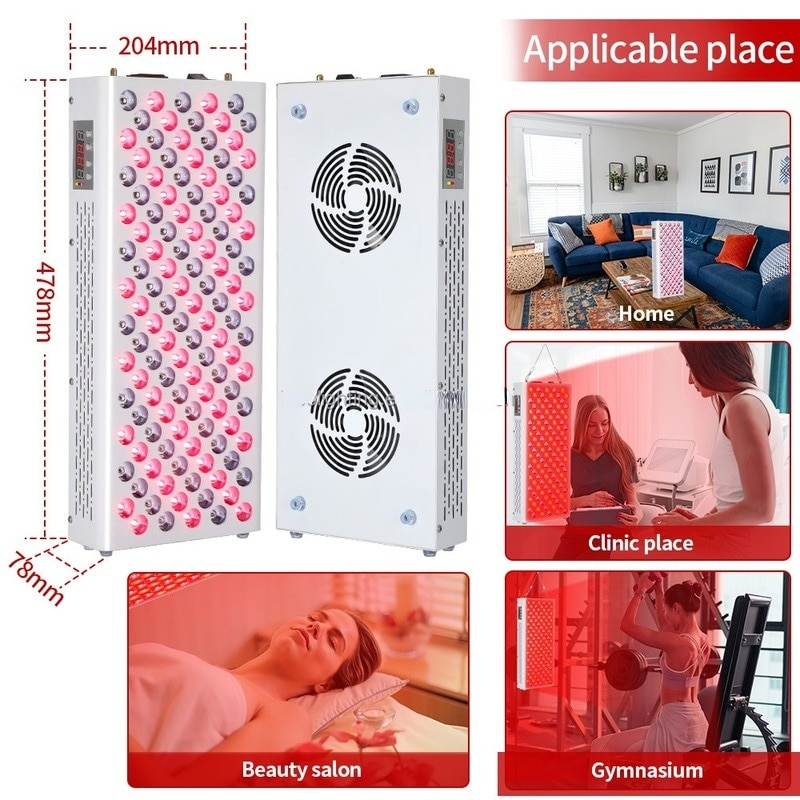 Red Light Therapy Panel Lamp Newest 600W Led 660/850nm Infrared Full Body for Skin Weight Loss Face Skin Beauty Equipment Indoor enlarge
