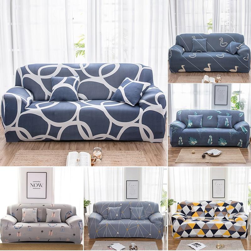 1/2/3/4seats Elastic Stretch Sofa Covers Living Room L Shape Couch Cover Spandex Sofa Protectors Dustproof Slipcovers недорого