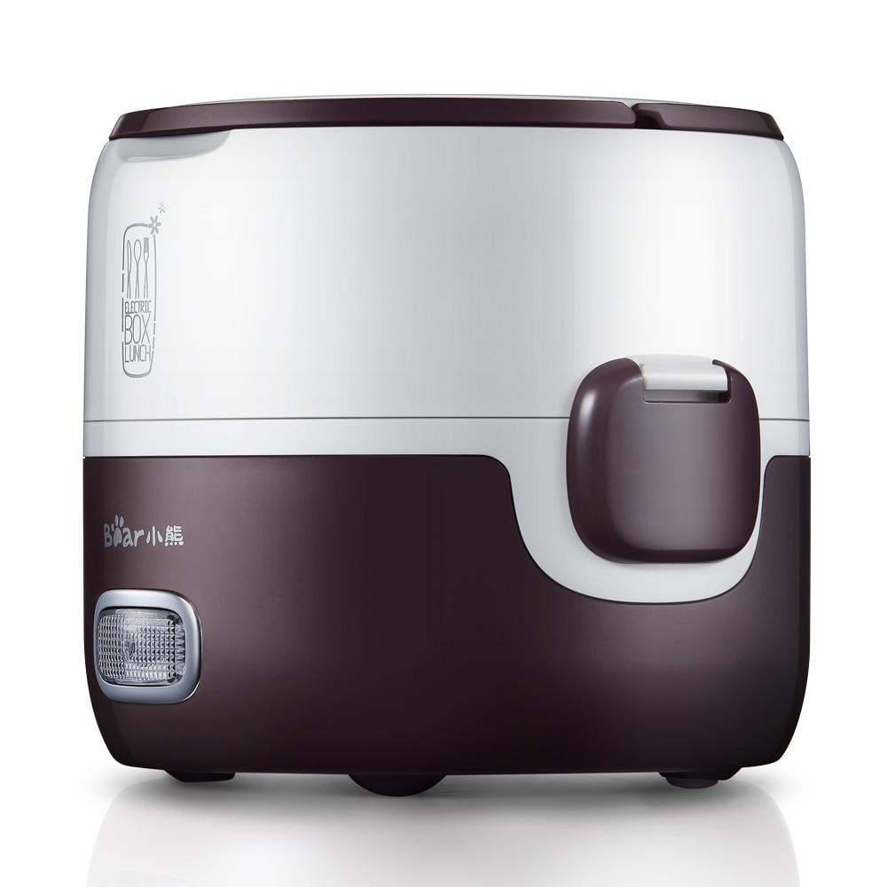 Fiambrera calefacción eléctrica doble aislamiento portátil arroz cocina Mini calentador de alimentos se puede insertar Cocina eléctrica cajas
