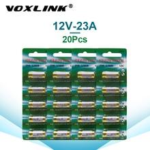 VOXLINK  23A Batteries 12V 20PCS For Doorbell alarm remote control Dry Carbon Battery Paper card packaging 23GA A23 GP23A E23A