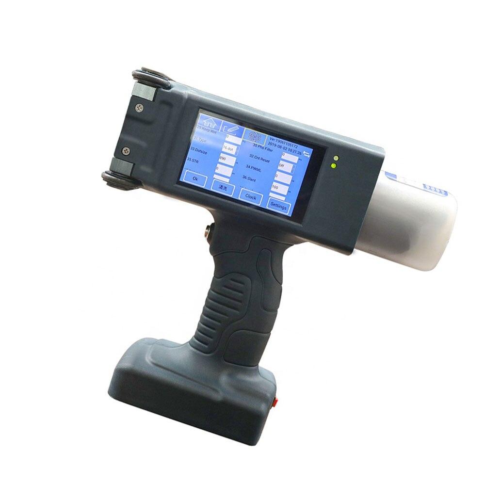 Impressora a jato de tinta solvente de eco para a folha de cabo de madeira 16 pontos que imprimem a altura de 60mm à mão direta à parede