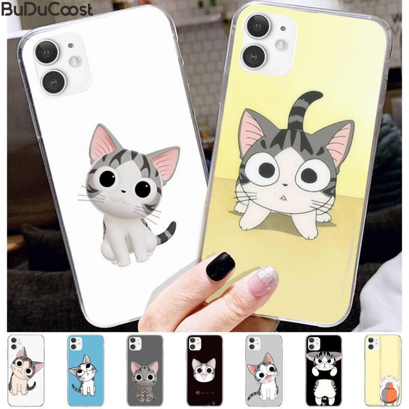 Wangquan dessin animé mignon chat étui de téléphone de luxe pour iphone 11 Pro11 Pro Max X 8 7 6 6S Plus 5 5S SE cass