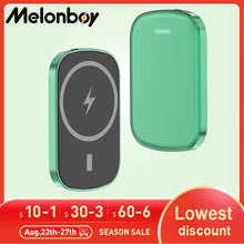 Melonboy 10000mAh Wireless Power bank portable 22.5W PD+QC Quick Charge magsafe magnetic power bank fast charger for iphone 12