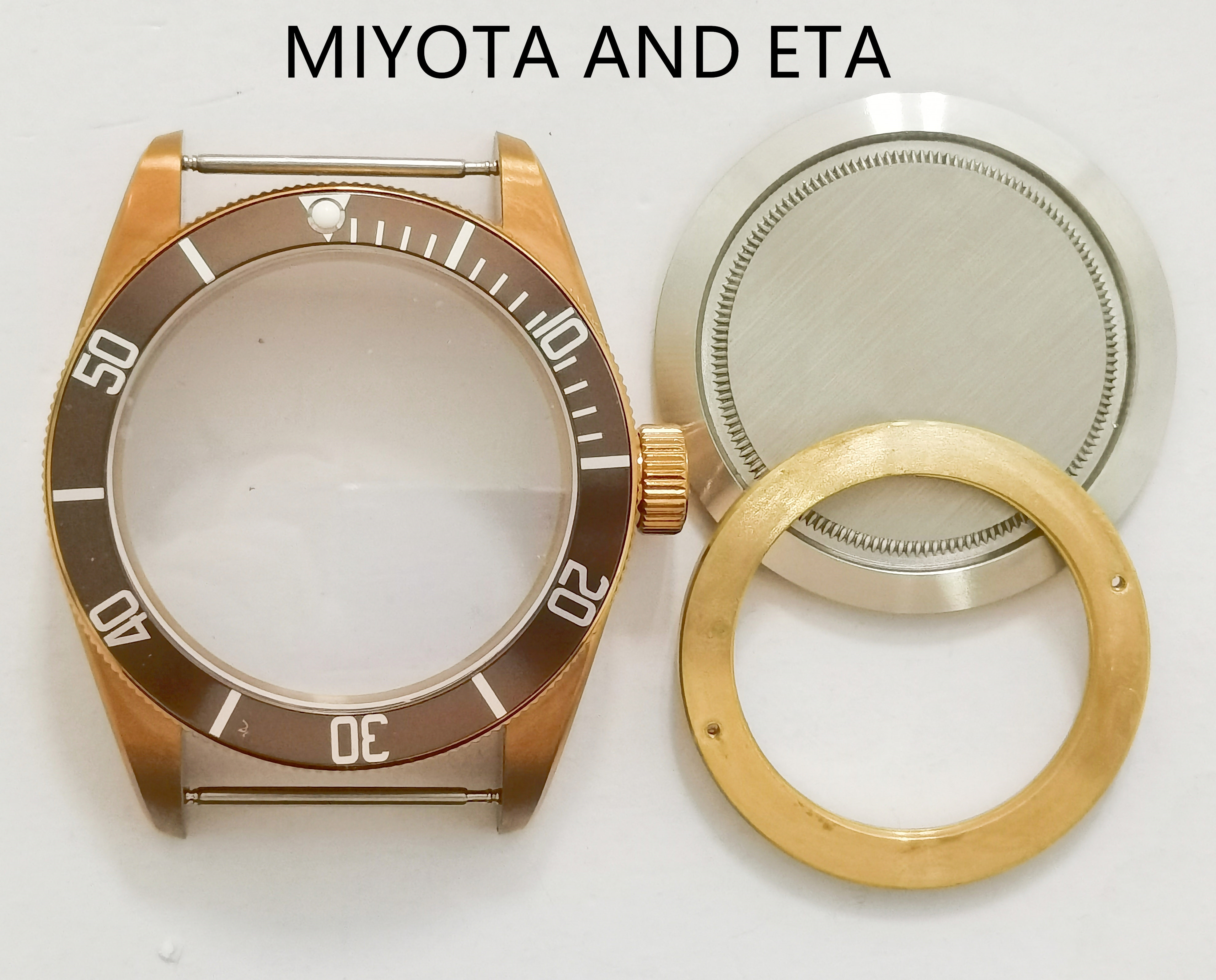 40MM New Watch Part 316 Stainless Steel Case Add Dial And Hands Fit  ETA 2836/2824 ST2130 Miyota 8215 NH35 Automatic Movement enlarge