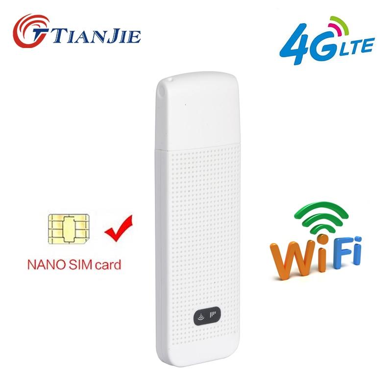 4G Wi-Fi роутер Dongle мобильный модем 4g Wi-Fi Sim-карта портативная беспроводная сетка LTE мини USB роутеры Карманный хот-спот сетевой адаптер