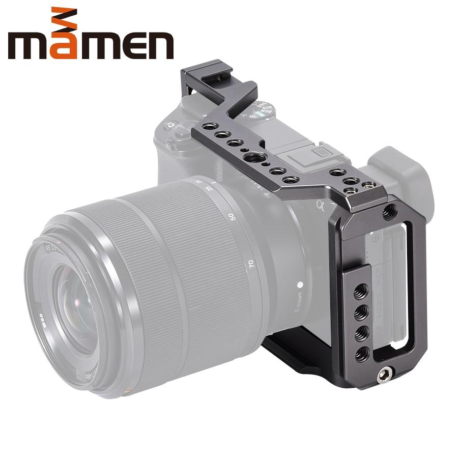 Mamen Sony A6100 A6400 A6500 Aluminium Legierung Kamera Käfig Hand Grip Fotografische Stabilisator 1/4 3/8 zoll Schraube Kamera Zubehör