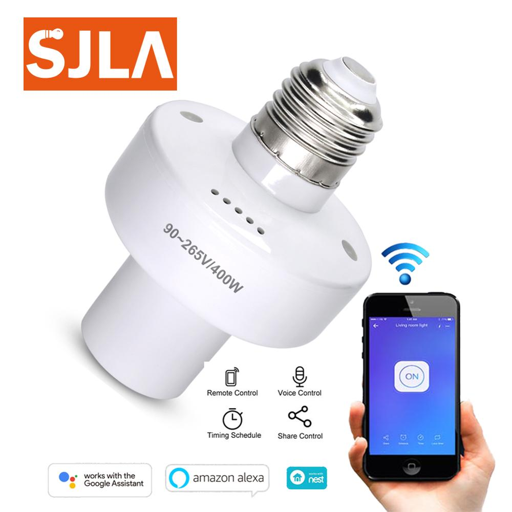 E27 E26 Timer Voice Control Wifi Smart Switch Remote IOS Android APP Led Lamp Wireless Timer Light Switch Intelligent Universal