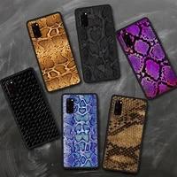 luxury snake skin art phone case for samsung s8 s9 s10 e s20 s21 s30 5g edge plus lite cover fundas coque