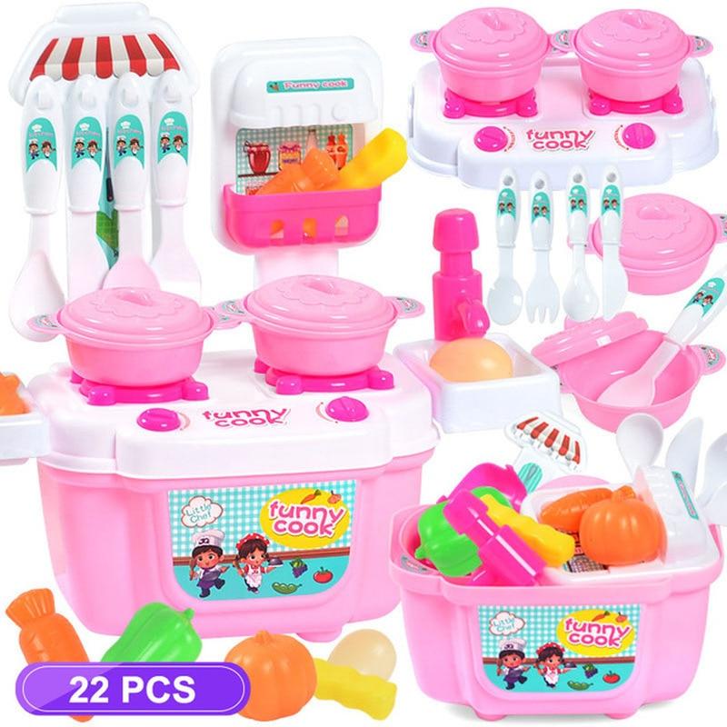 Un conjunto de los niños utensilios de cocina papel-niños jugando juguetes ejercicio las manos en la capacidad de niña Cosplay utensilios de cocina regalos