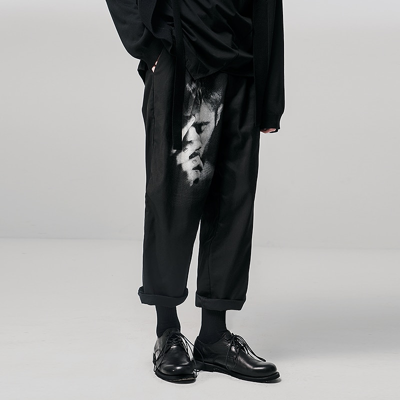 [HUANXIANGZHE] 2020 Fashion mens pants man Casual ankle-length pants Printed trousers Streetwear New Spring Summer