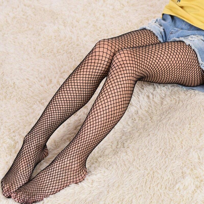 Meninas moda malha meias crianças bebê fishnet meias preto meia-calça crianças collants