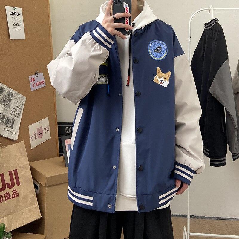 Бейсбольная куртка Мужская модная брендовая куртка Ins High Street 2021 весна и осень повседневная спортивная мужская куртка мужская одежда