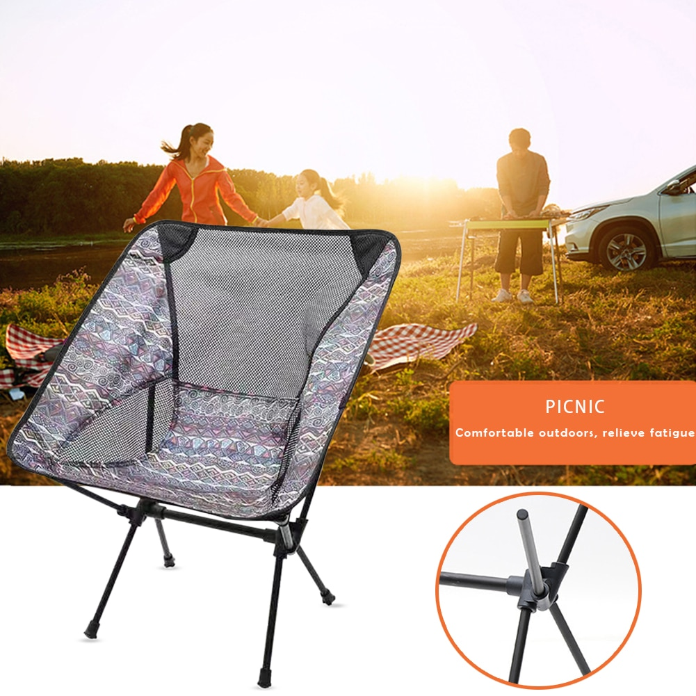 Portable Fishing Camping Chair Lightweight BBQ Folding Outdoor Picnic BBQ Seat Fishing Chair Furniture for Rest enlarge