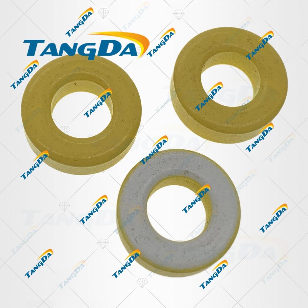 Núcleos do pó do ferro de tangda T68-26A od * id * ht 18*9*6.5mm 58nh/n2 75ue núcleo toróide da ferrite do núcleo da poeira do ferro toroidal branco amarelo toroidal t