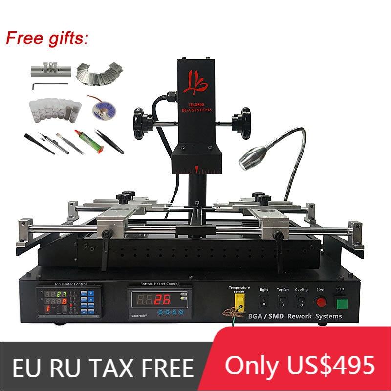 LY IR8500 IR BGA reballing machine, ترقية من IR6500 V.2 و IR6000 V.3 مع 80 مللي متر 450W الأشعة تحت الحمراء أعلى لوحة تسخين السيراميك