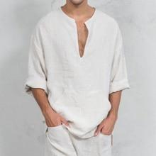 Zomer Mannen Losse Stijl Katoen Linnen T-shirt Tops Middeleeuwse Cosplay Kostuums Vintage Ranger Knight Mannelijke Streetwear Kleding