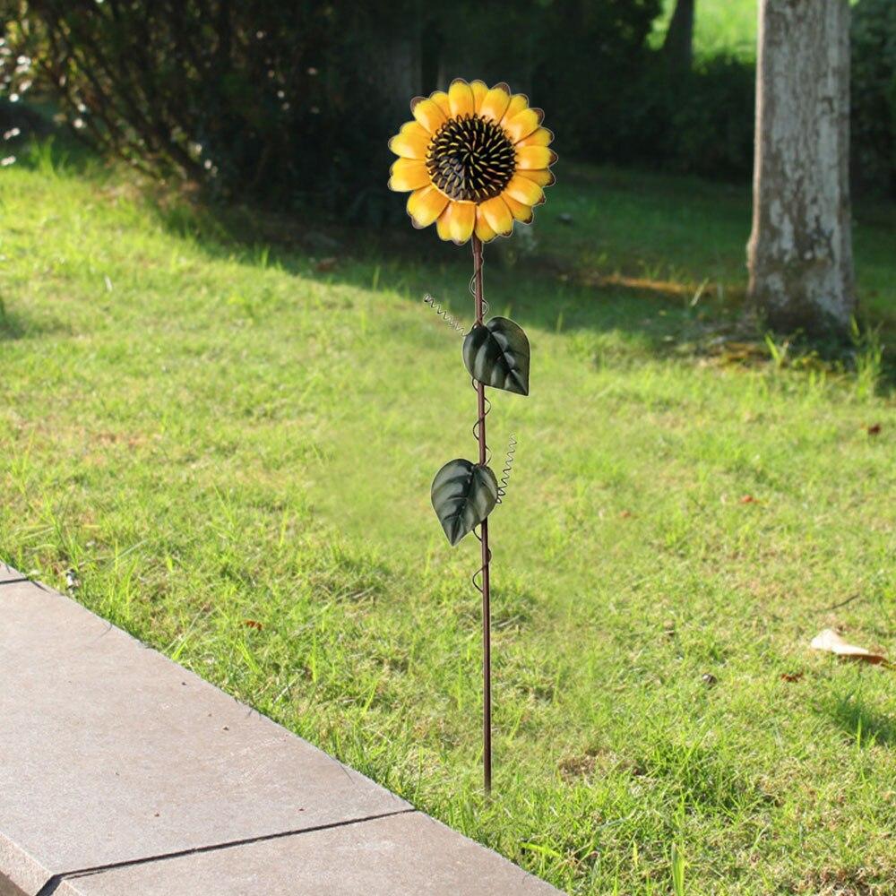 植物の花ステーク芝生ヤードスティック装飾品金属ひまわりガーデンステークス素朴な外装飾