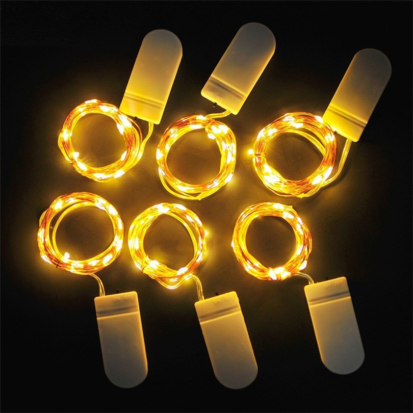 1m 2m 5m 10m 20m copper silver wire led string fairy lights holiday lighting for christmas tree garland wedding party decoration 10Pcs 1M 2M 3M 5M Copper Wire LED String lights Holiday lighting Fairy Garland For Christmas Tree Wedding Party Decoration