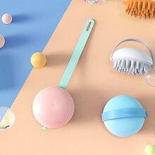 Wet&Dry Shampoo Brush Hair Scalp Massager Silicone Head Brush Hair Massage Comb Portable Hair Comb B