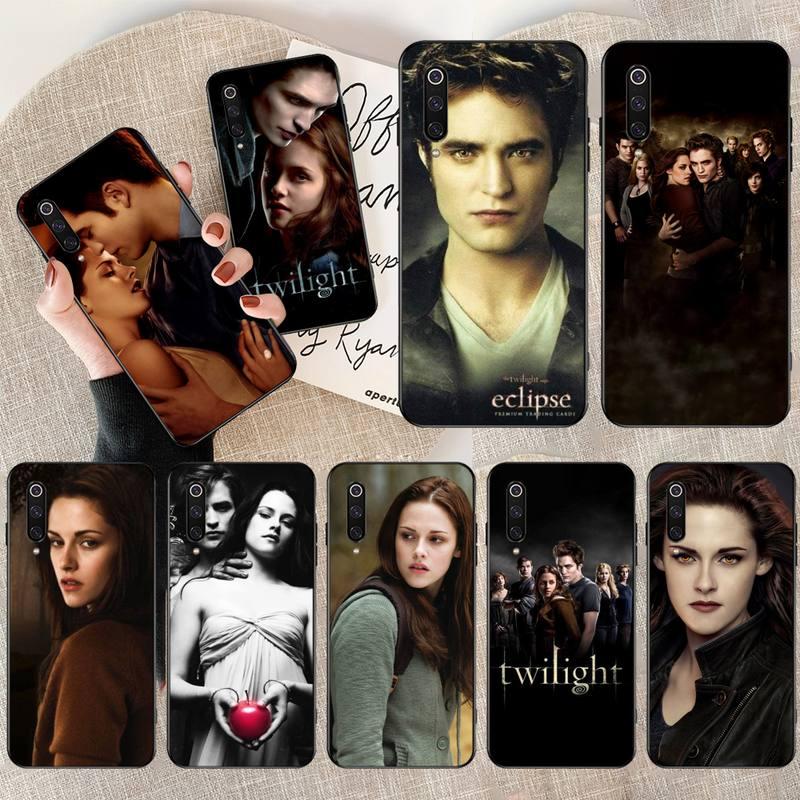 NBDRUICAI TV crepúsculo Isabella Edward Cullen suave negro de la cubierta del teléfono para Redmi Nota 8 8A 7 6 6A 5 5A 4 4X 4A ir Pro Plus primer