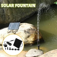 solar power floating fountain water pump for garden pond pool fish tank pvc solar landscape fountain pump garden outdoor