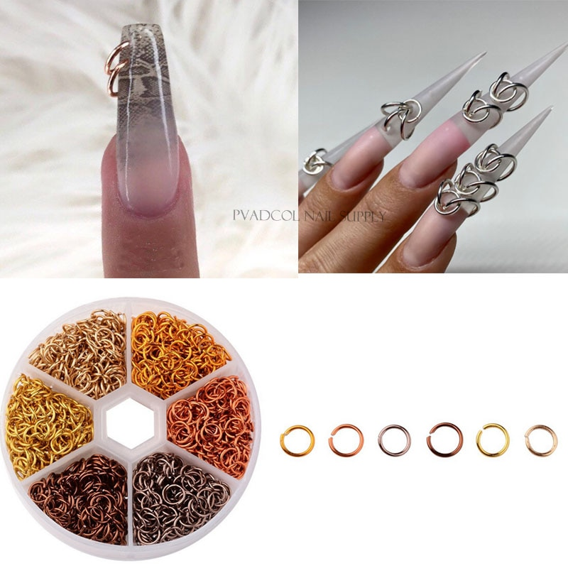 Piercing Dangle Nail Art Charms Glitter 3D Nails Rhinestones Acrylic Decoration Metal Alloy Designs