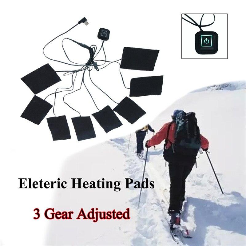 1 комплект, USB электрическая куртка с подогревом, грелки для улицы, теплые зимние грелки, жилетки, походная одежда