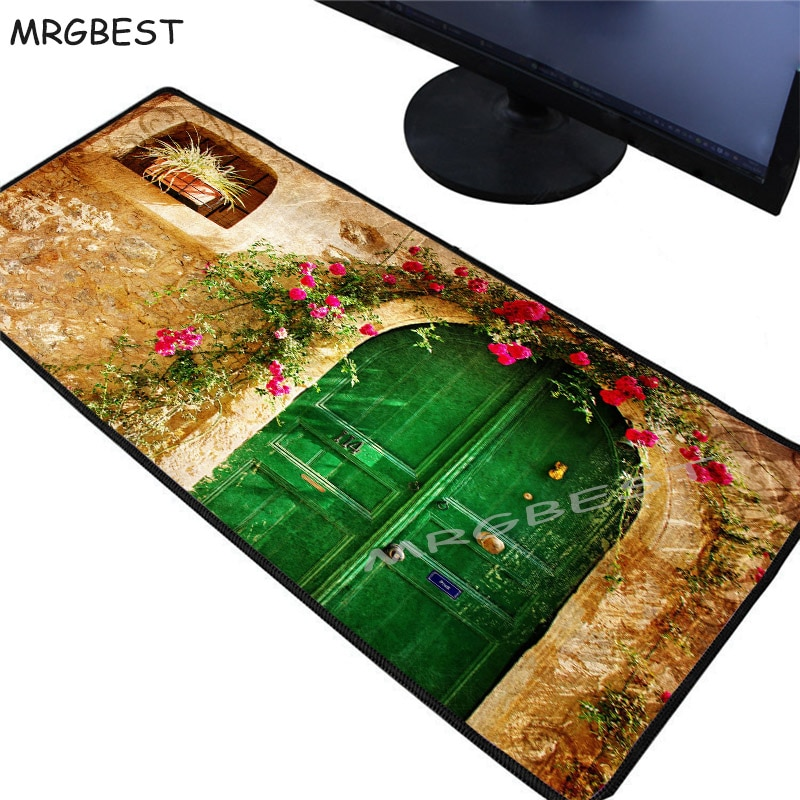 MRGBEST Flower Forest Gate Large Gaming Mouse Pad PC Computer Game Player Mousepad Desk Mat Locking Edge CS GO LOL Dota XXL 2020