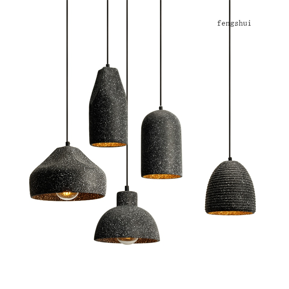 Modern LED Pendant Light Lighting Concrete Cafe Home Decor Decoration Living Room LED Pendant Lamp Kitchen Fixtures Hanging Lamp
