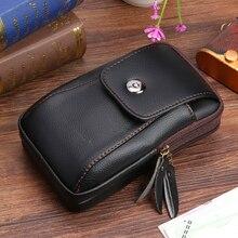 Multi-Function Men Wallet Fashion PU Leather Zipper Purse Belt Bag Casual Flap Card Clutch Holder Ma