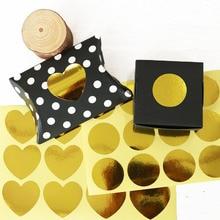 120pcs Heart Sealing Sticker decor Foil Paper Stickers wedding Gift Packing Sticker Party Baking DIY Handmade label scrapbooking