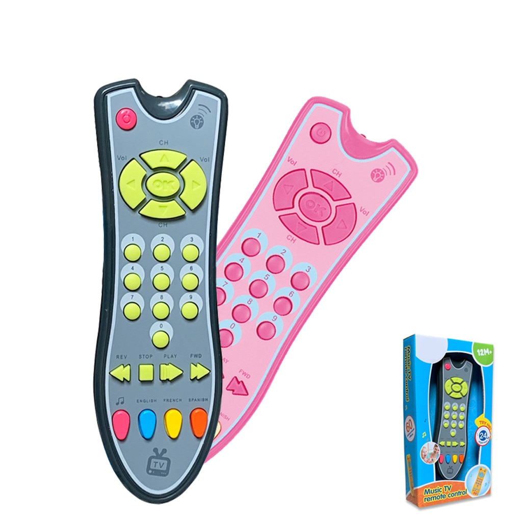 Kids Musical TV Remote Control Toy Baby Simulation TV Remote Control Mobile Phone Toy Kids Educational Music Learning Toy