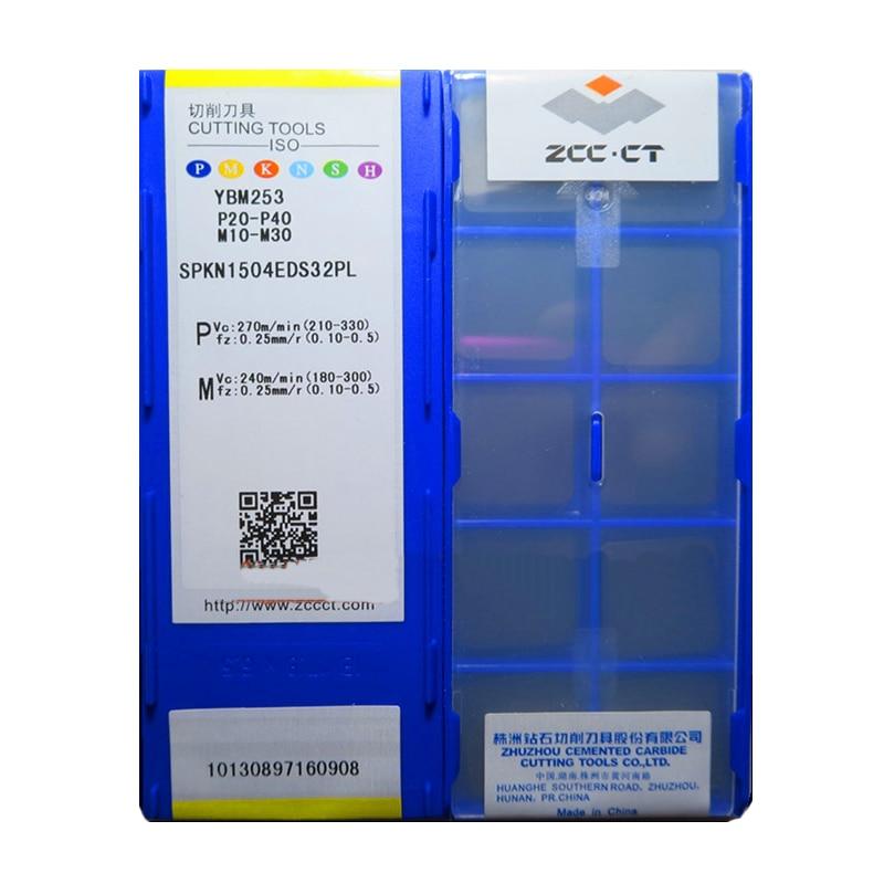100% Original ZCC.CT SPKN 1504 EDS32PL SPKN1504EDS32PL YBM253 SPKN1504 Carbide Inserts for Steel & Stainless Lathe Cutter Tools